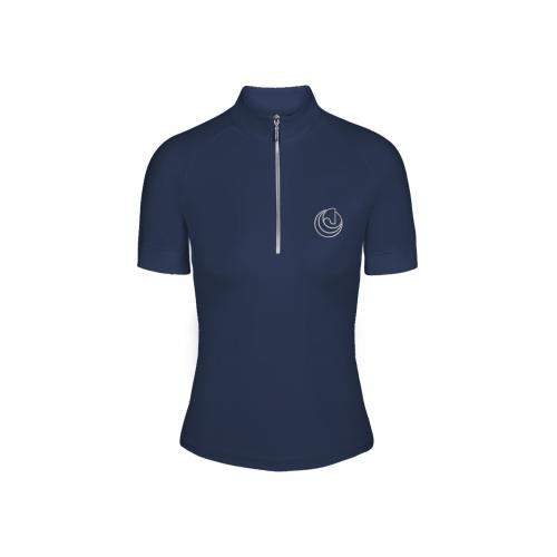 HS BASIC riding shirt blue